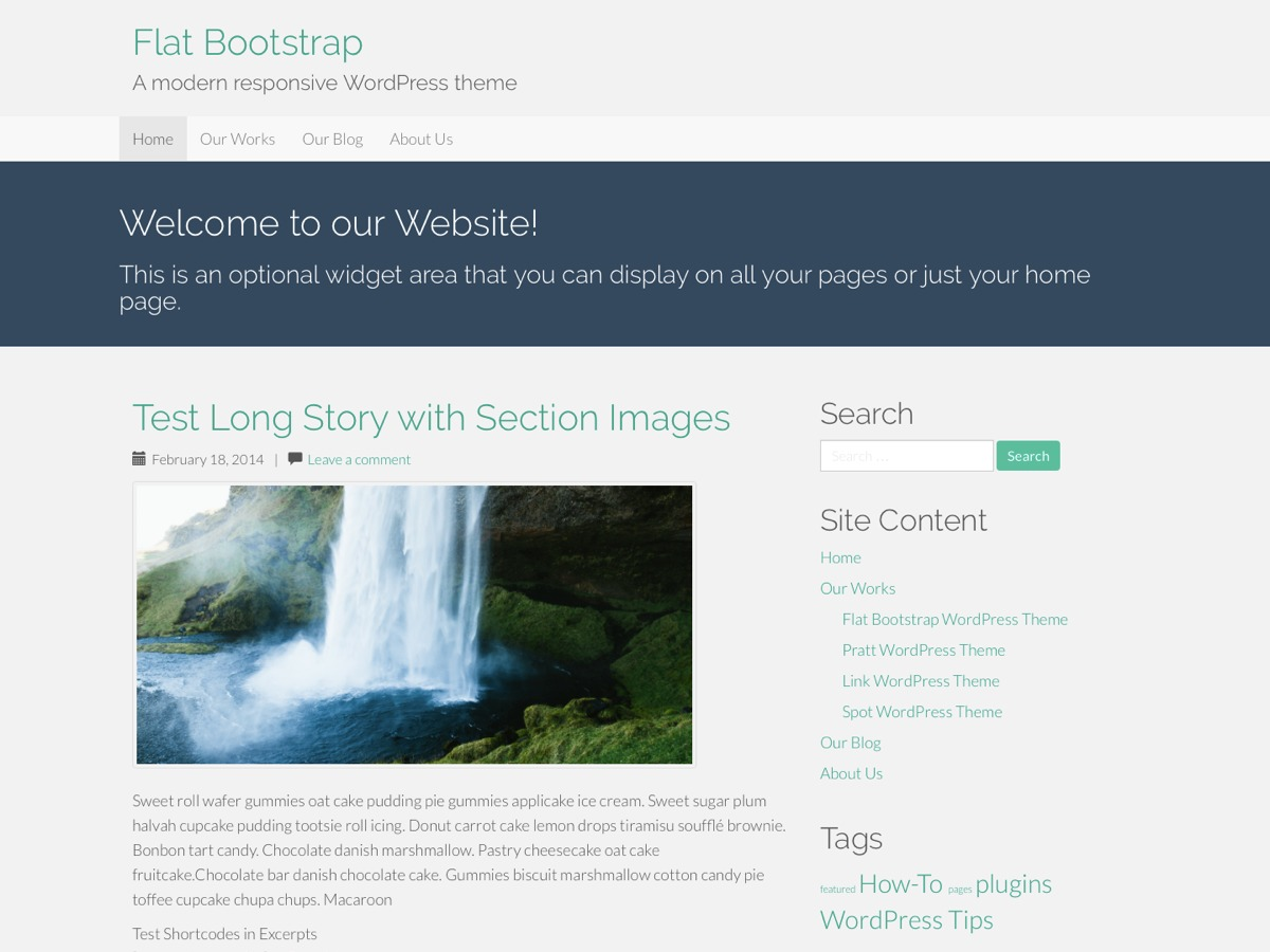 Flat Bootstrap WordPress theme free download