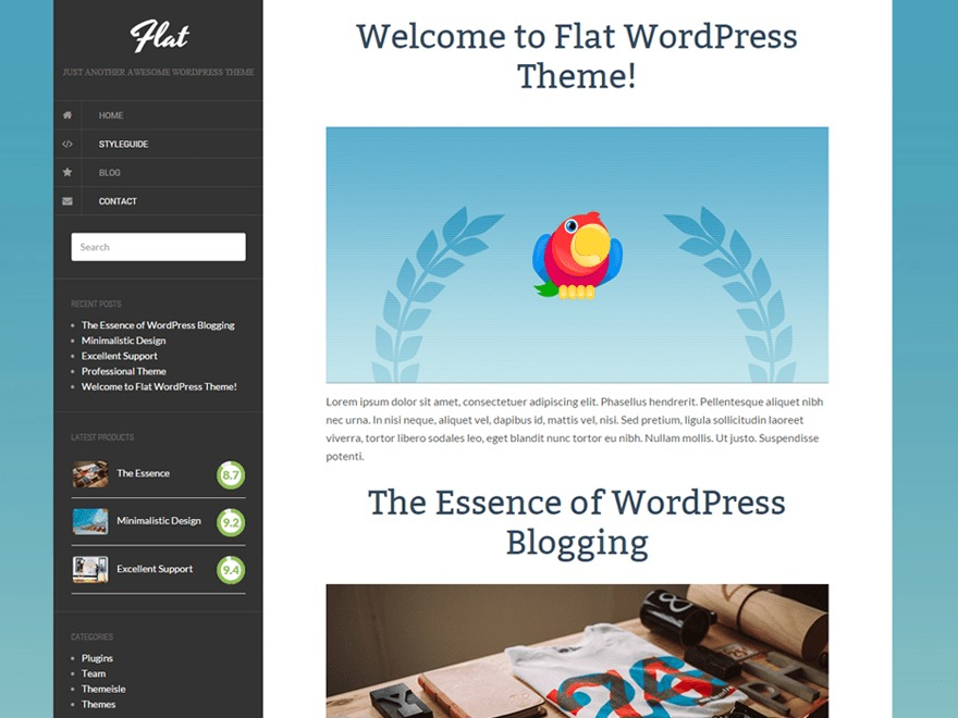 Flat WordPress template free