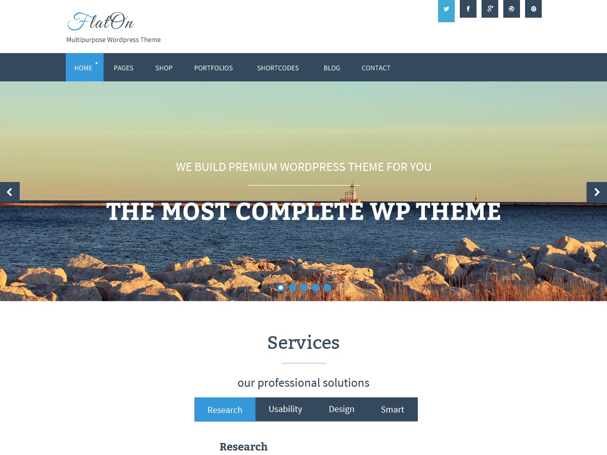 FlatOn WordPress blog template