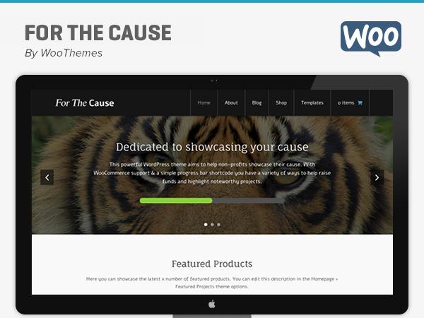For The Cause WordPress theme design