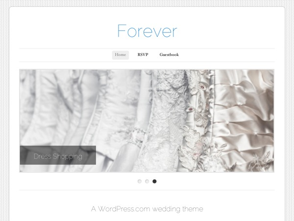 Forever WordPress wedding theme