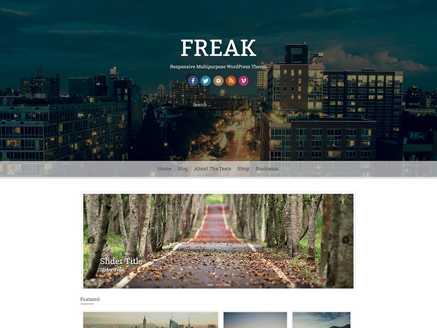 Freak free WordPress theme