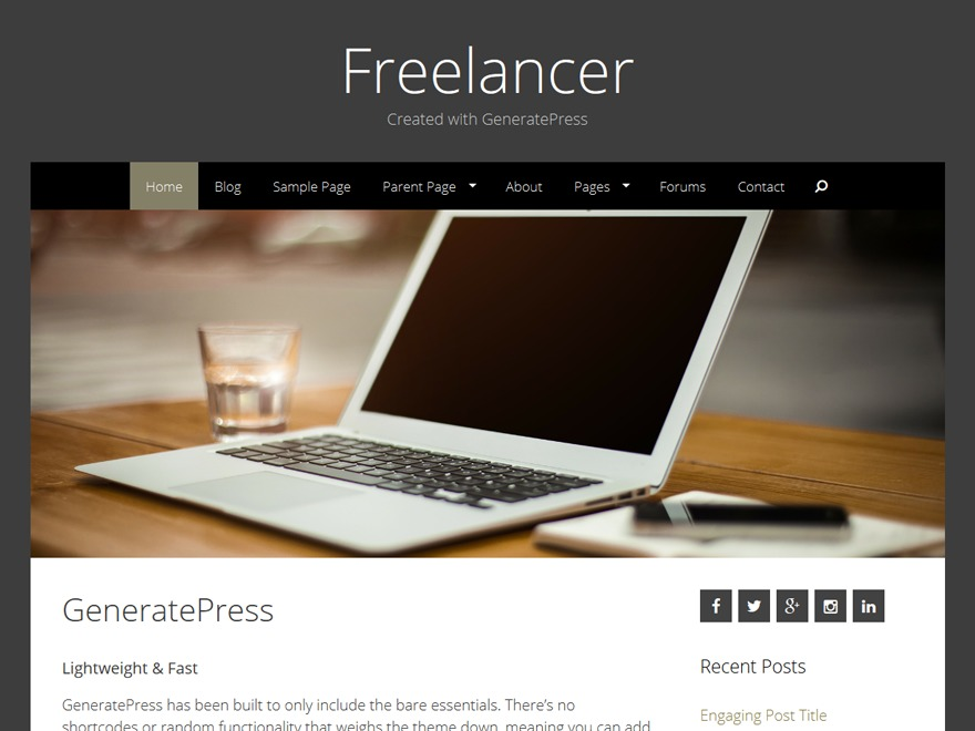 Freelancer best free WordPress theme