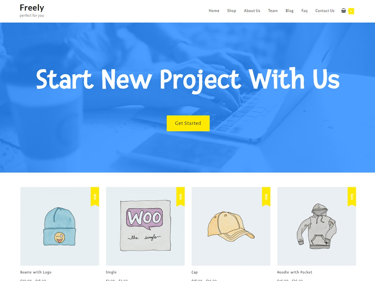 Freely WordPress template for business