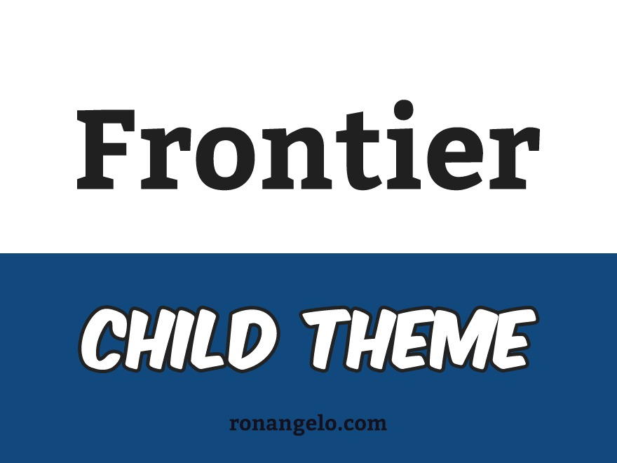 Frontier Child WordPress theme