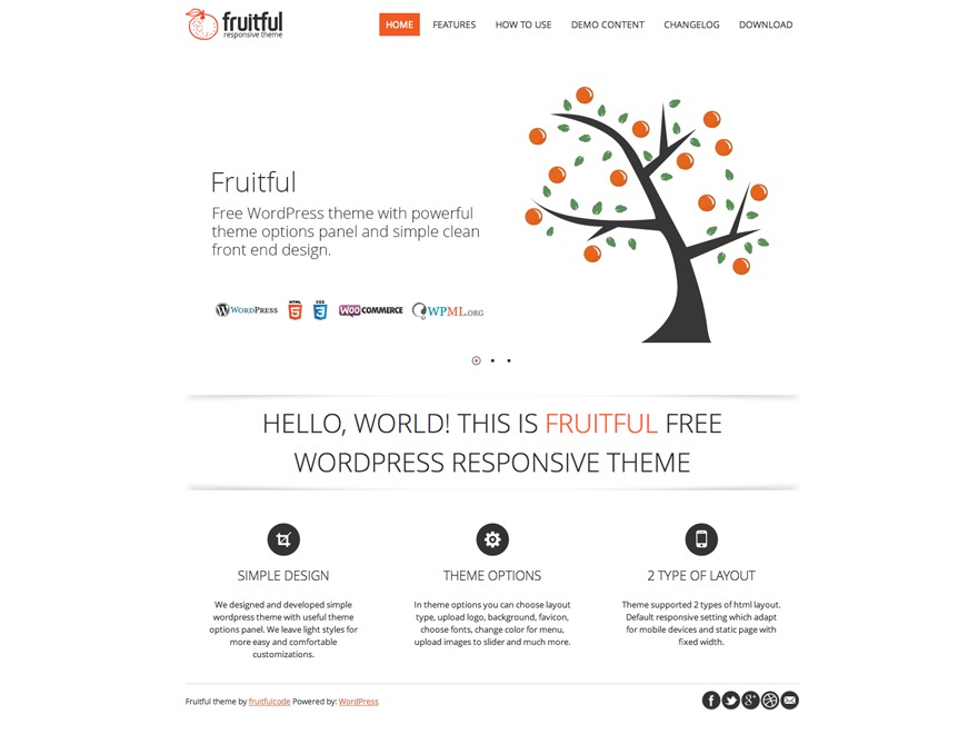 Fruitful WordPress ecommerce theme