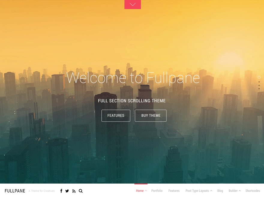 Fullpane best WordPress theme