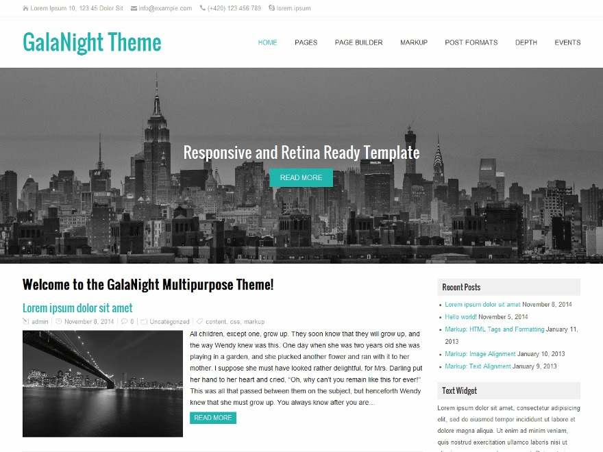 GalaNight WordPress theme download