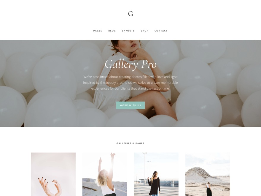 Gallery Pro wallpapers WordPress theme