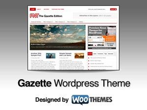 Gazette Edition WordPress theme design