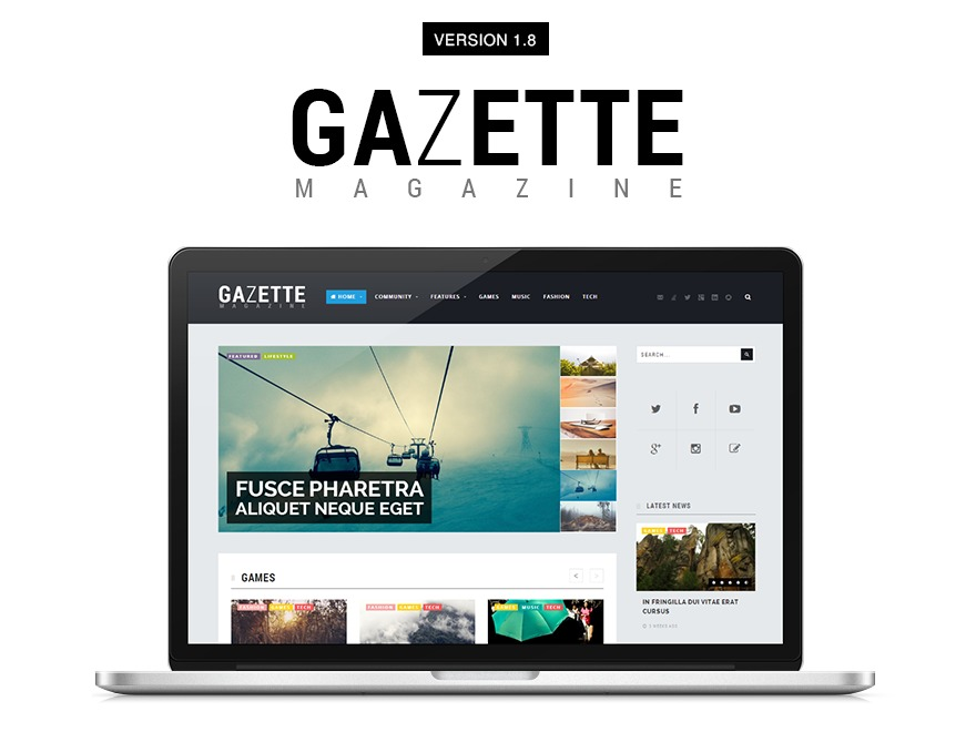 Gazette Magazine newspaper WordPress theme