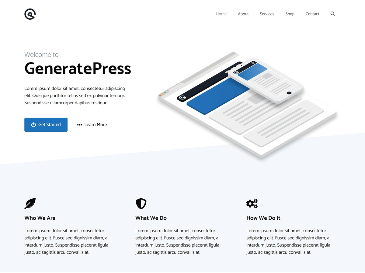 GeneratePress WordPress ecommerce template