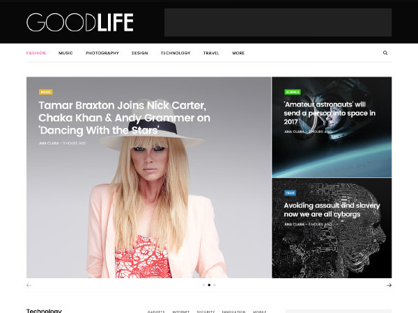 GoodLife newspaper WordPress theme