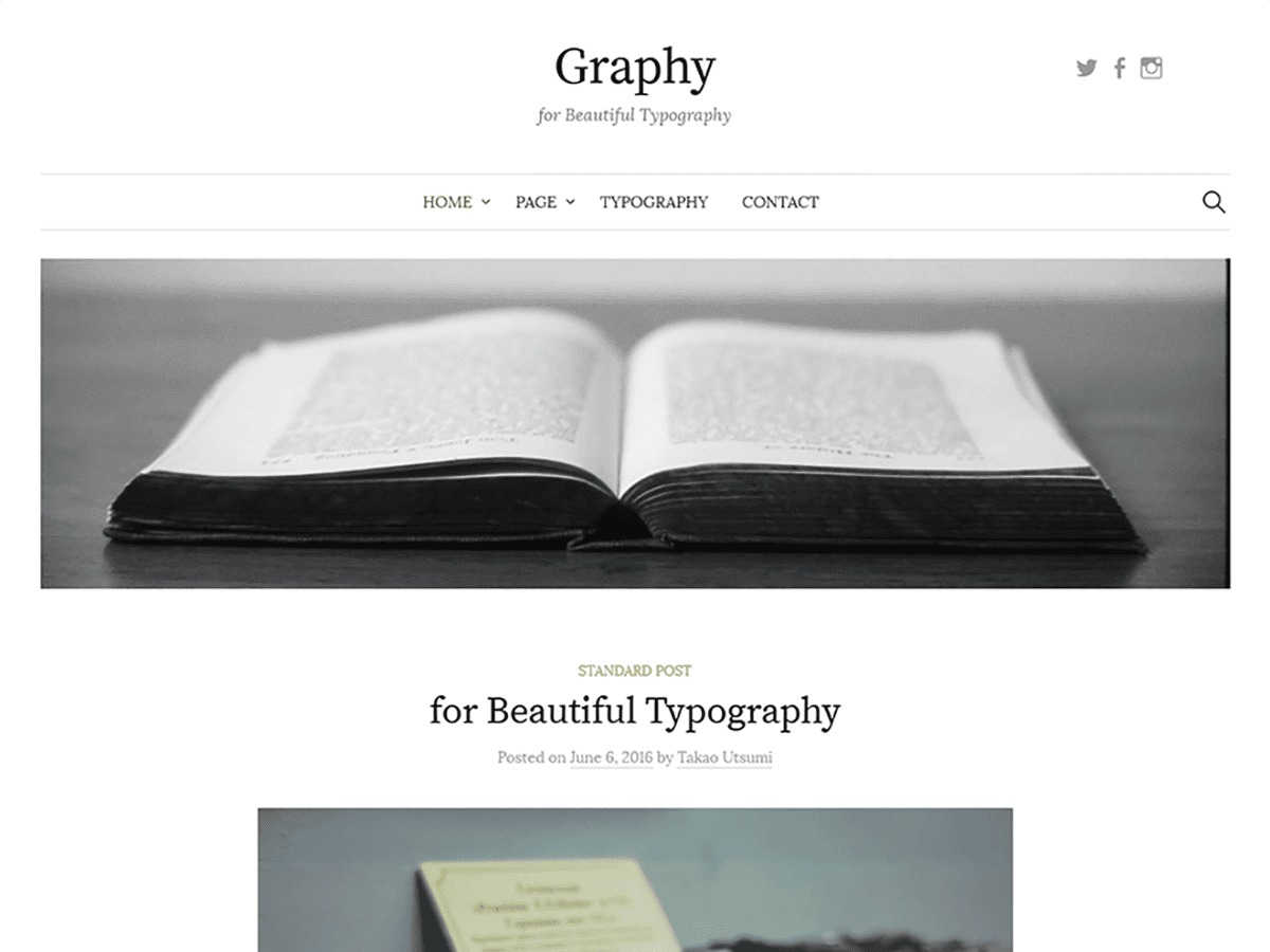 Graphy theme WordPress free
