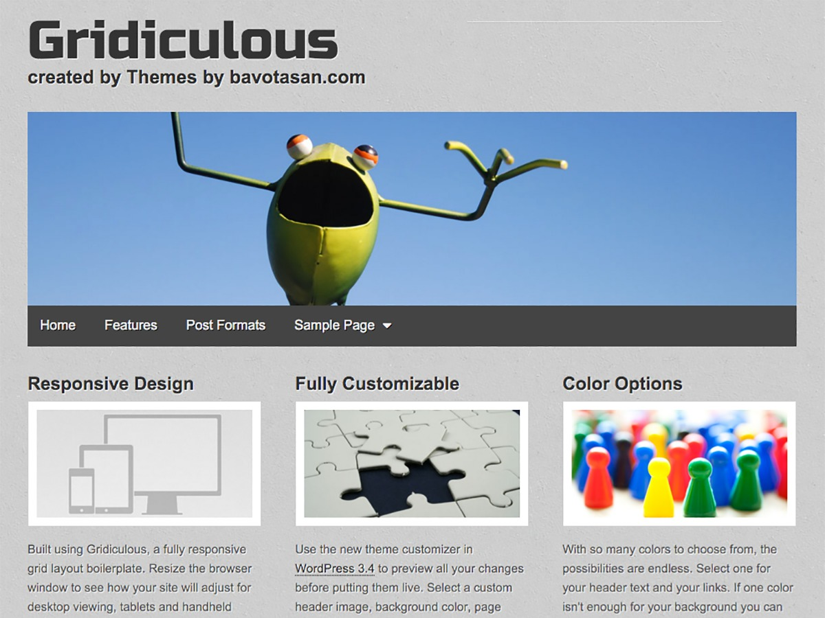 Gridiculous free WordPress theme