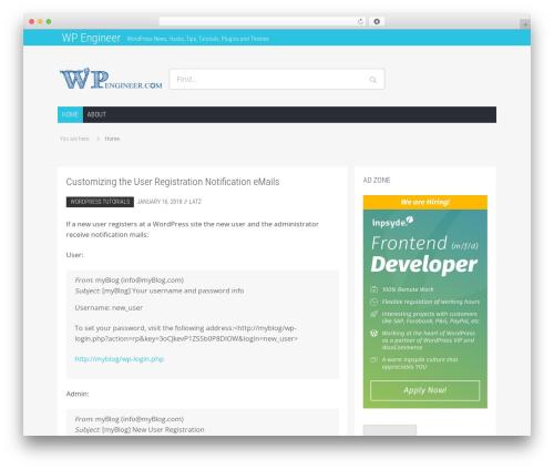 Hamburg newspaper WordPress theme - wpengineer.com