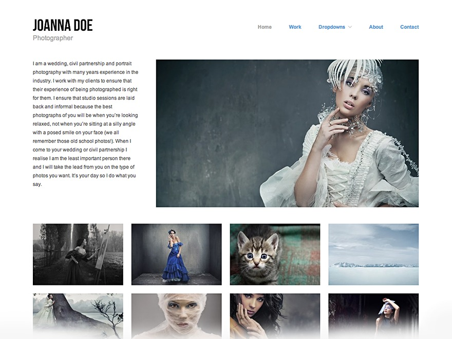 Hatch WordPress template for photographers