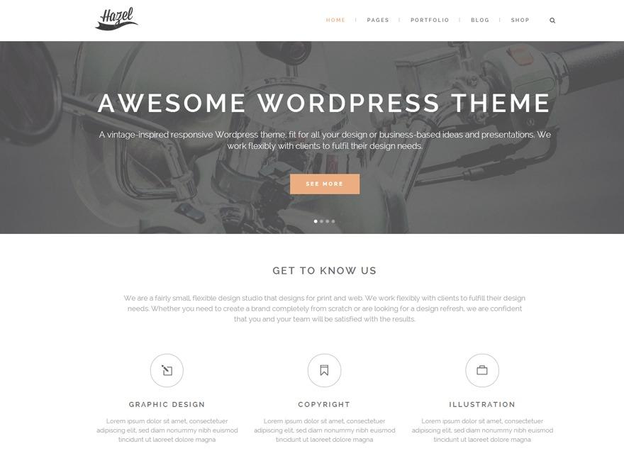 Hazel theme WordPress