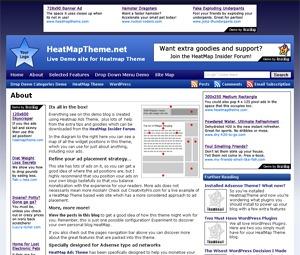 HeatMap Adsense Theme best WordPress template