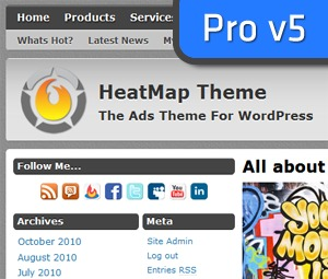 HeatMap Theme Pro WordPress theme