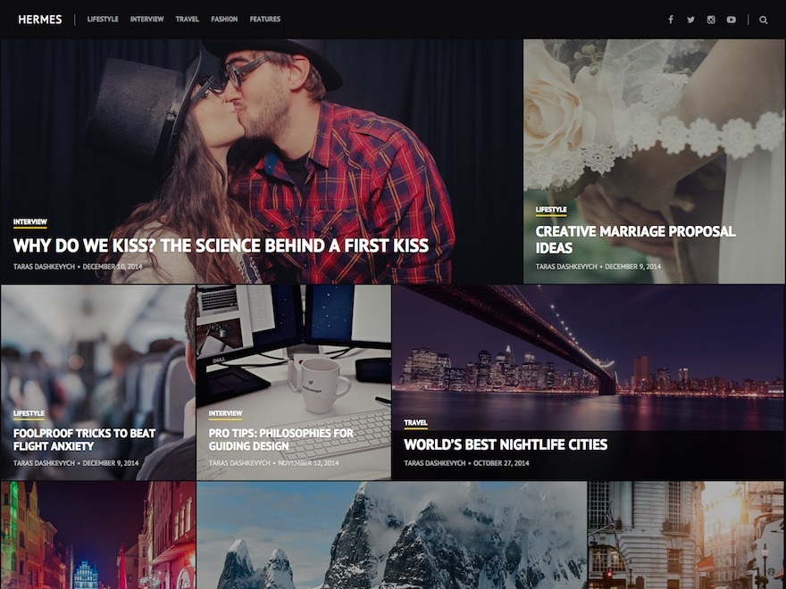 Hermes WordPress template for business
