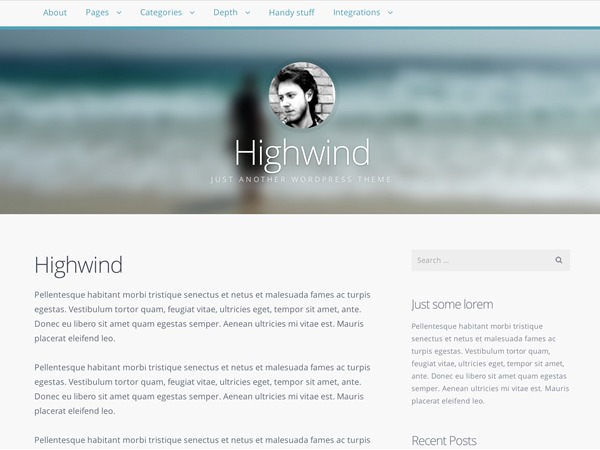 Highwind best WordPress template