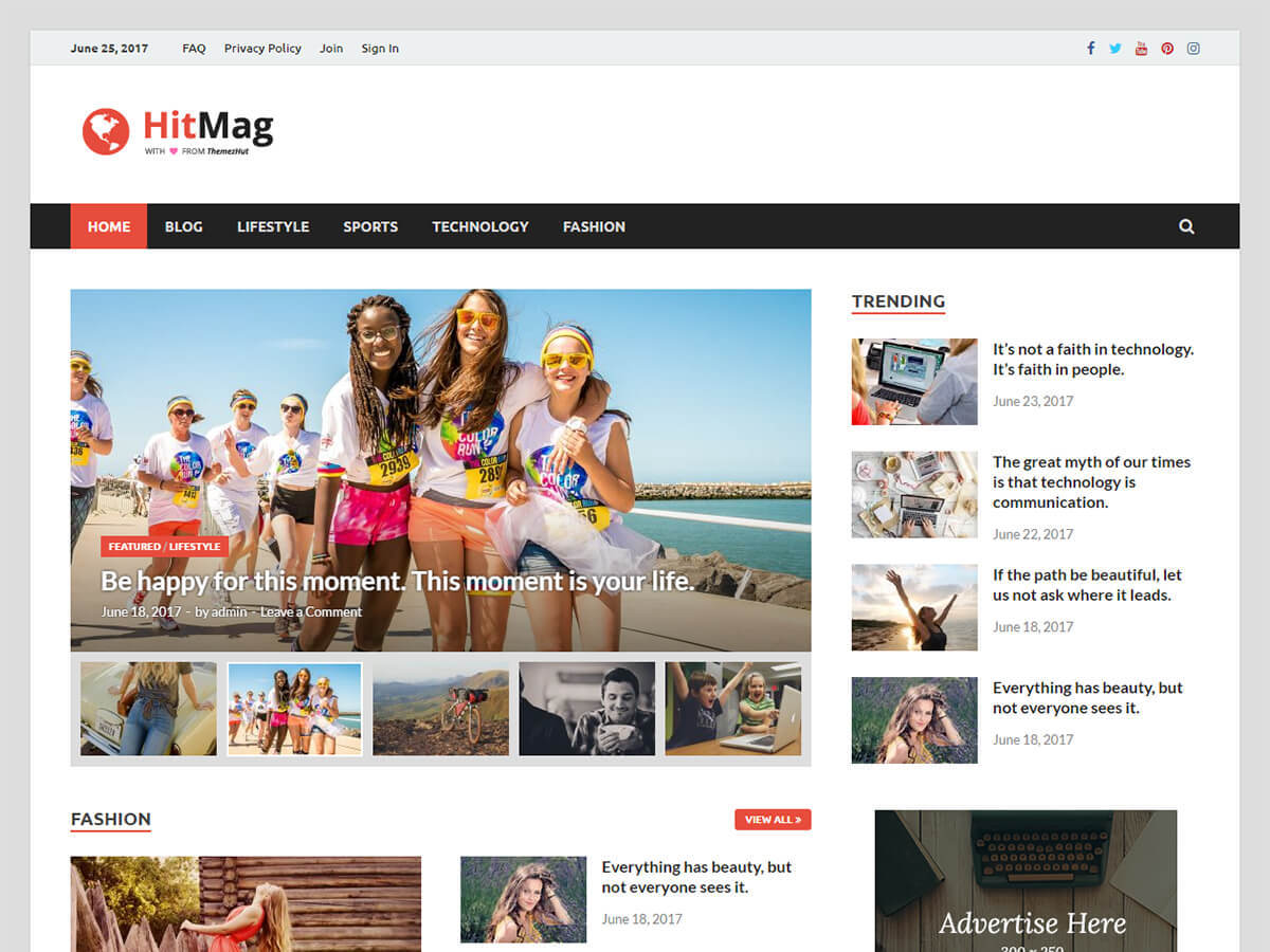 HitMag WordPress news theme
