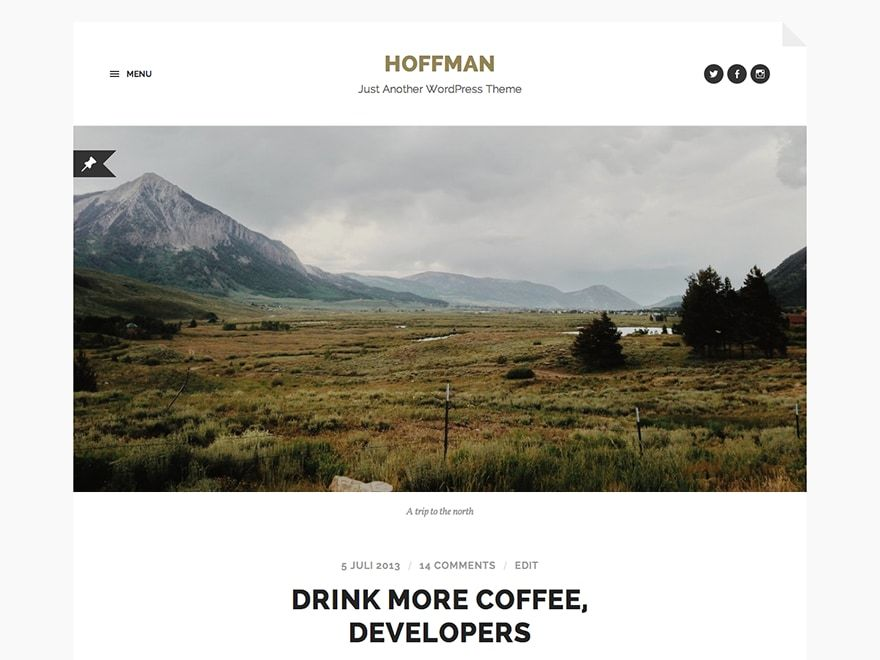 Hoffman free website theme