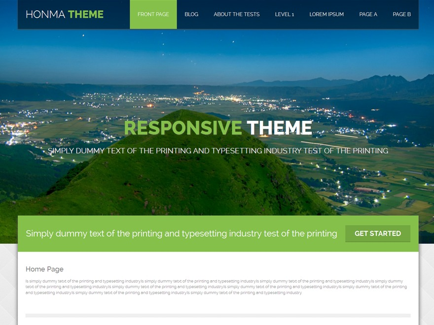 Honma business WordPress theme
