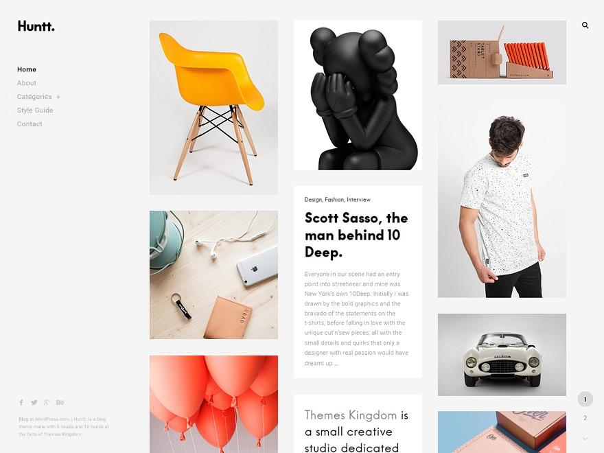 Huntt. WordPress portfolio theme