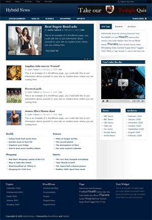 Hybrid News WordPress news template