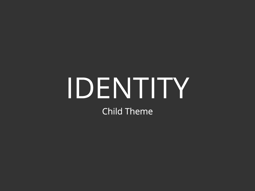 Identity Child WordPress template