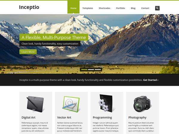 Inceptio company WordPress theme