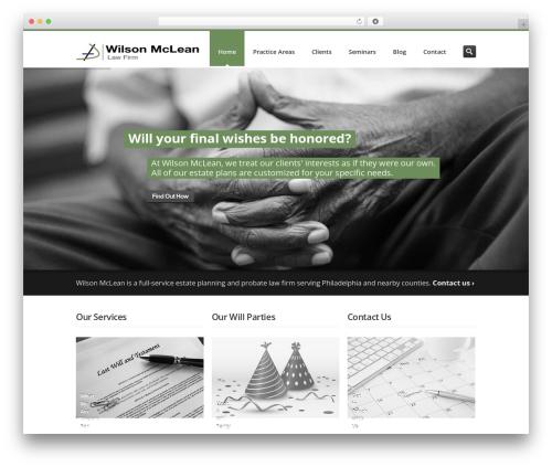 Inceptio WordPress template for business - wilson-mclean.com