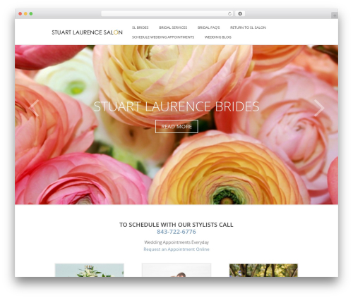 Indigo WordPress wedding theme - wedding.stuartlaurencesalon.com