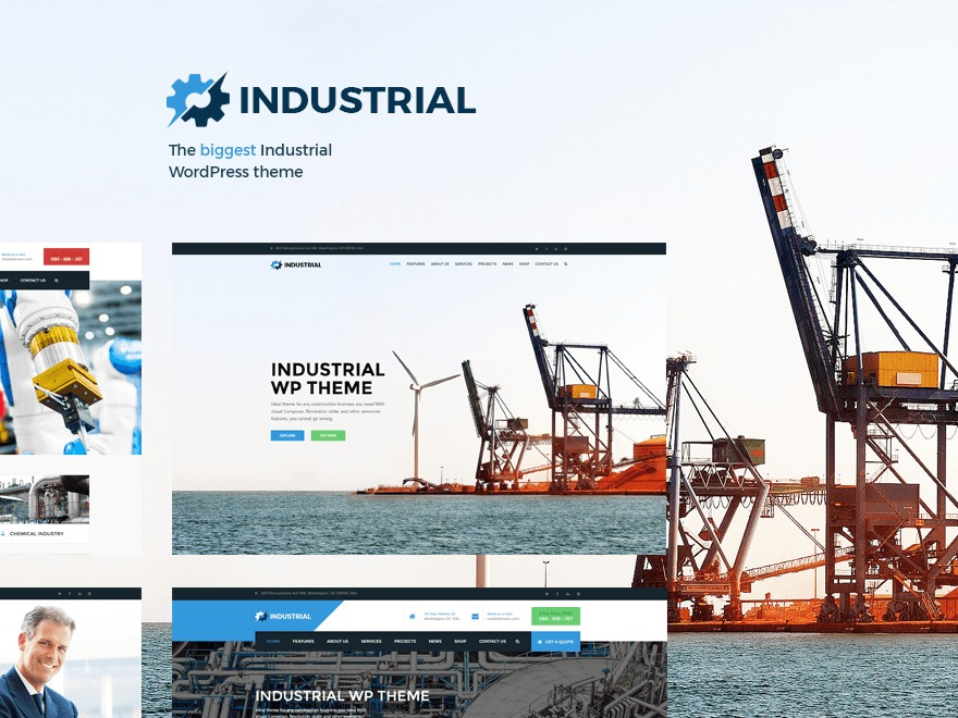 Industrial WordPress page template