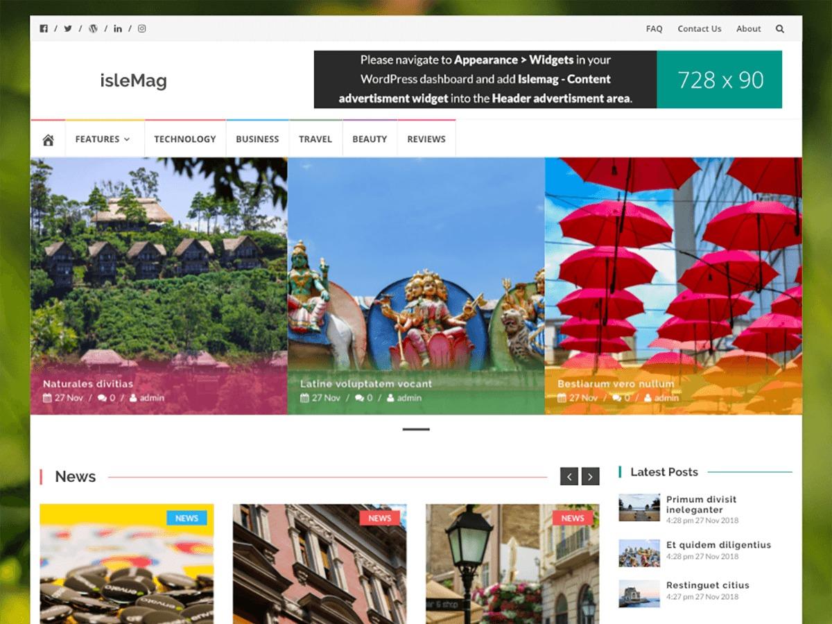 IsleMag WordPress blog theme