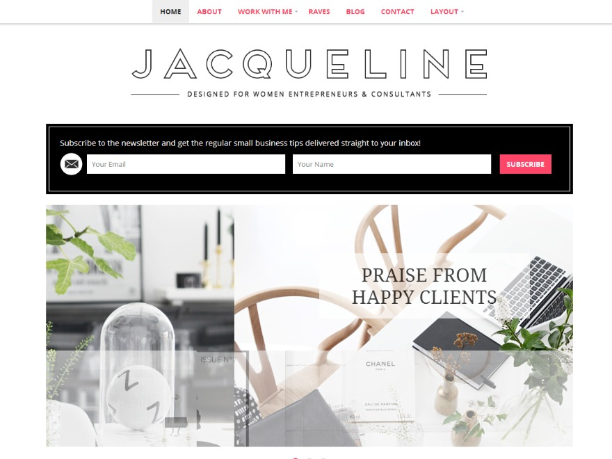 Jacqueline WordPress template