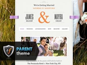 Just Married Parent WordPress wedding theme