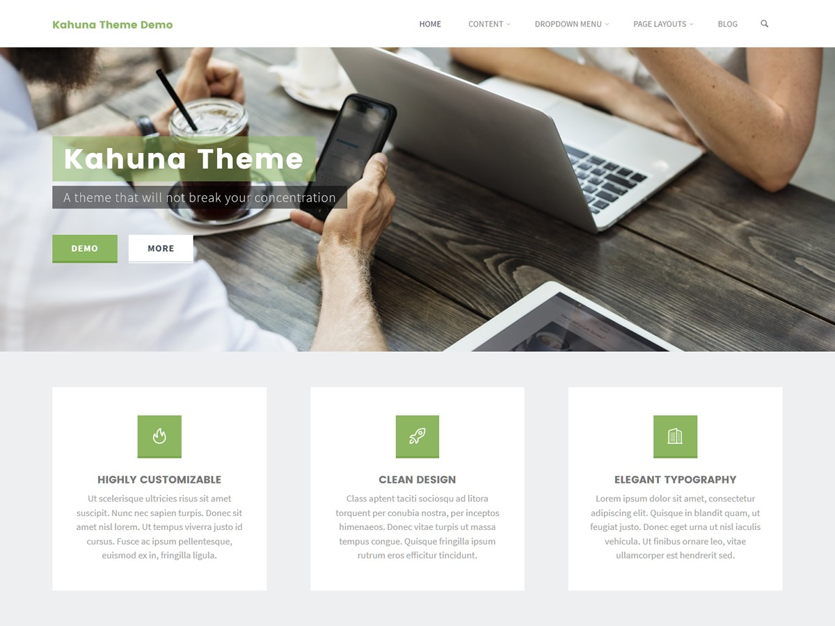 Kahuna WordPress ecommerce theme