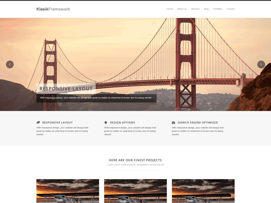 Klasik WordPress theme image
