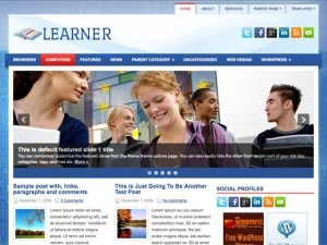 Learner WordPress blog theme