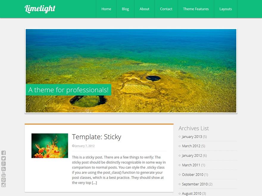 Limelight photography WordPress theme