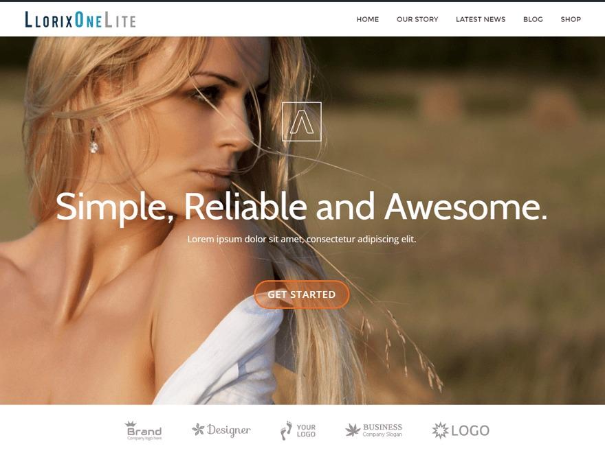 Llorix One Lite WordPress photo theme