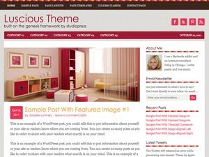 Luscious Child Theme WordPress website template
