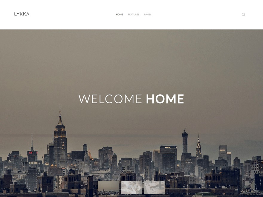 Lykka WordPress theme design