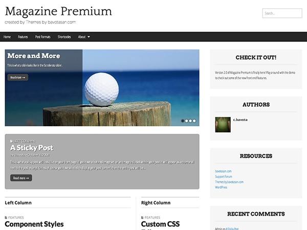 Magazine Premium WordPress gallery theme