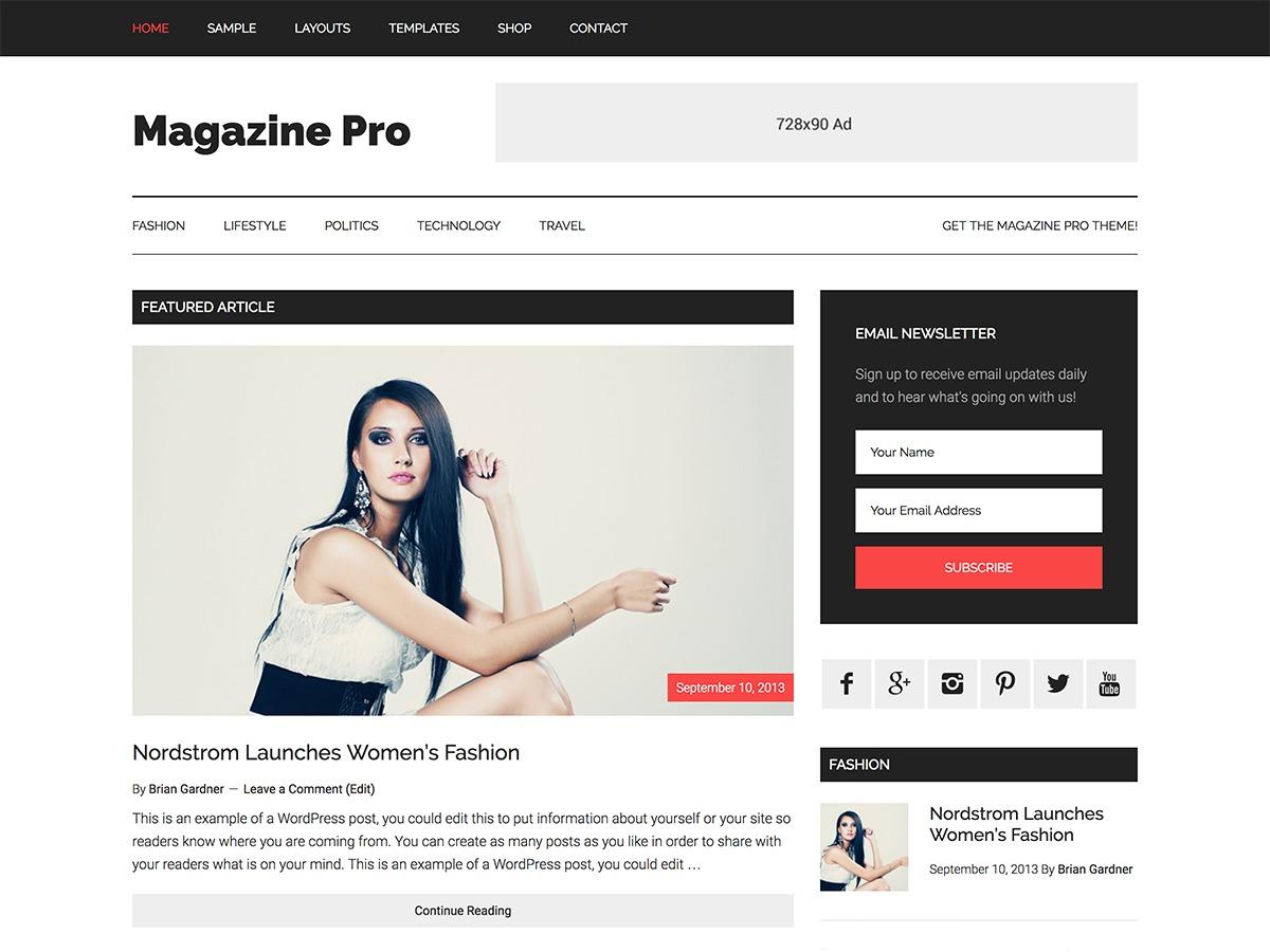 Magazine Pro WordPress magazine theme
