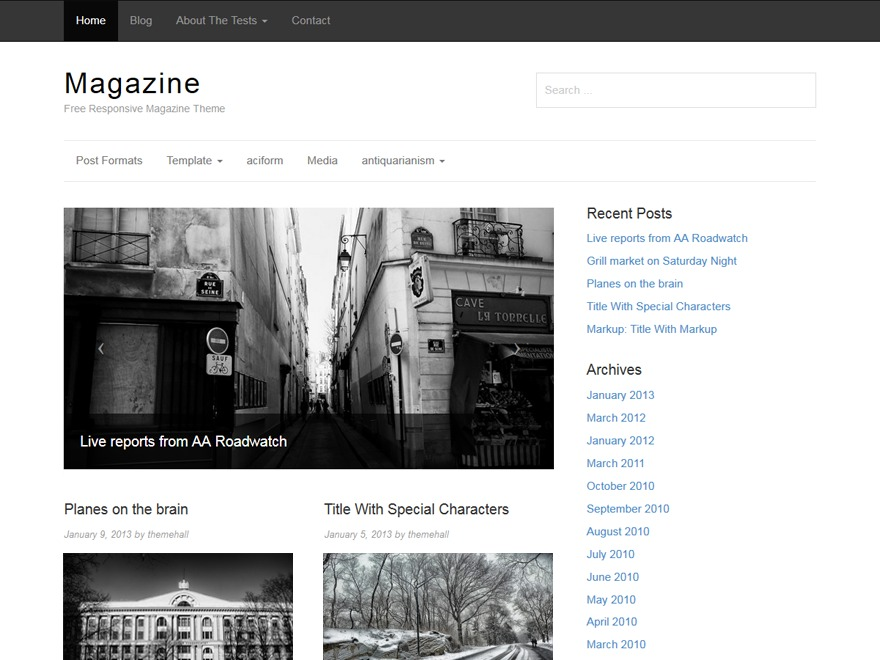Magazine WordPress news template