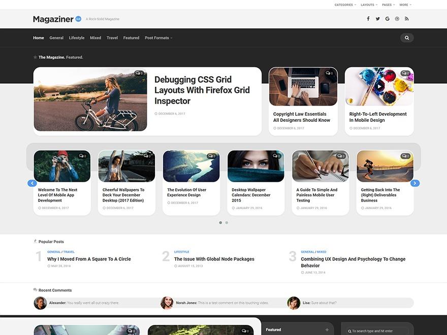 Magaziner newspaper WordPress theme